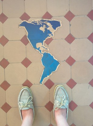 The Americas! And my feet.