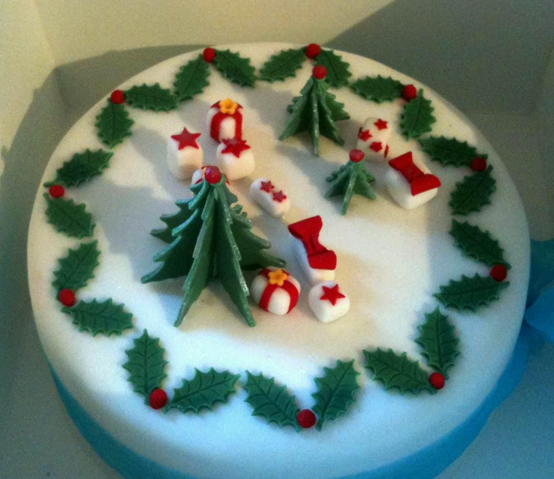 Marzipan Christmas Cake Decorations