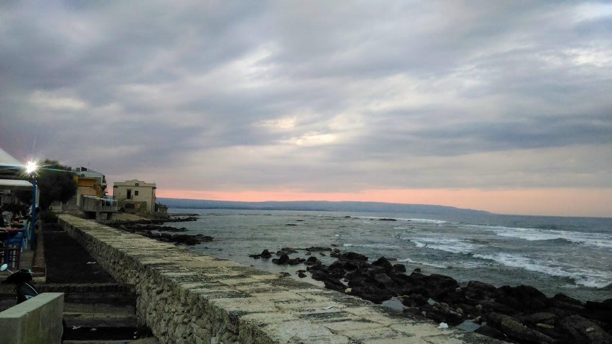 vista dal ristorante durante un weekend al mare in Sicilia con i bambini