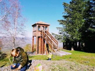 un'area picnic sull'Etna a Randazzo