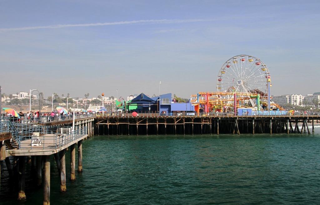 molo di santa Monica in California