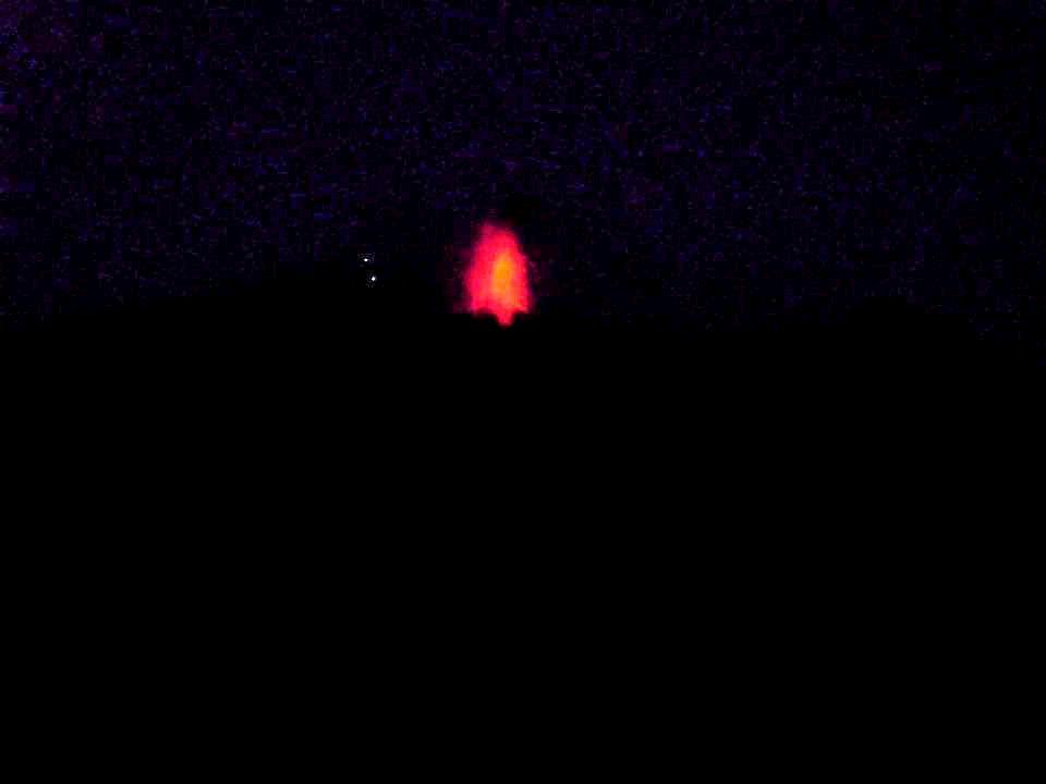 vista della sciara del fuoco da una barca a Stromboli Isole Eolie
