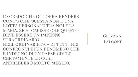 citazione di Giovanni Falcone