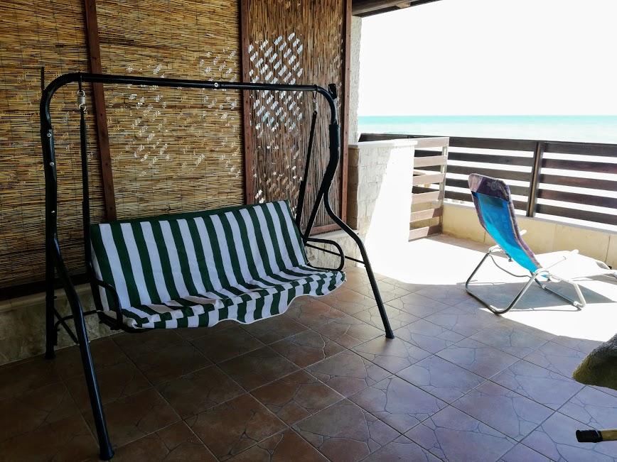 patio della casa sul mare a Donnalucata