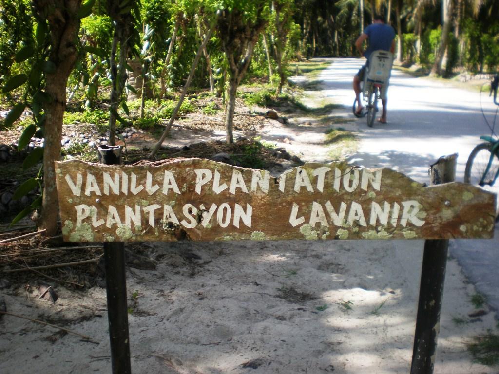 ingresso delle piantagioni di vaniglia alle Seychelles