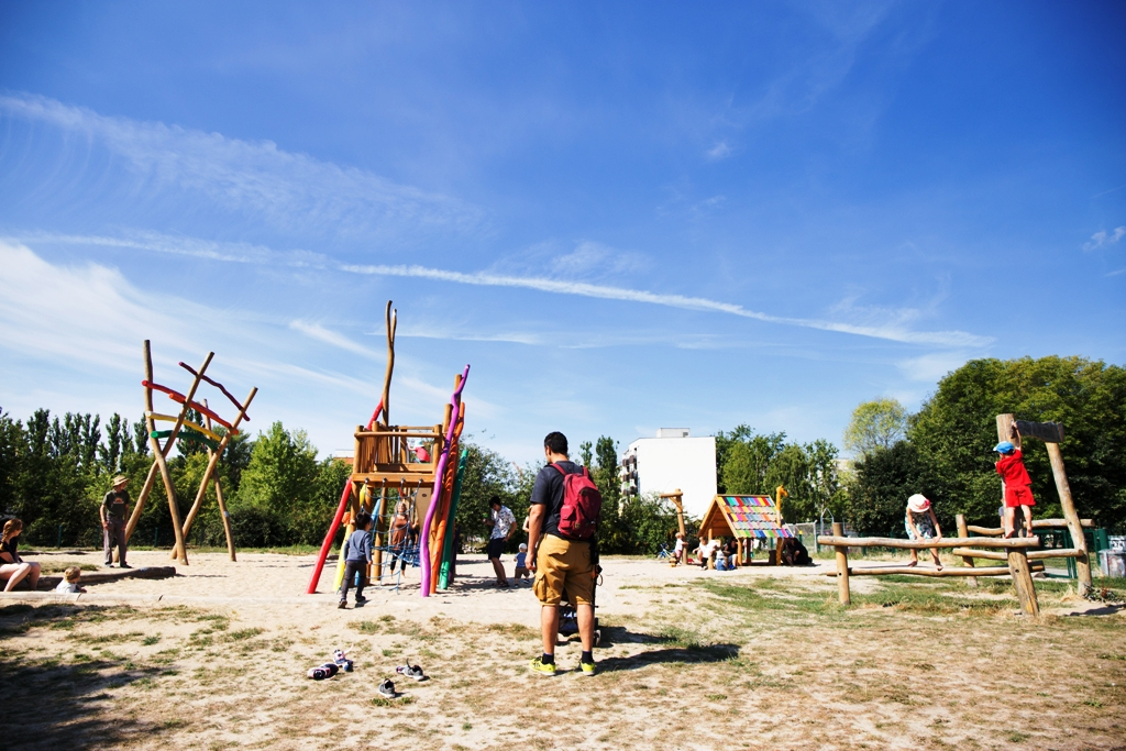 un playground a Berlino per bambini