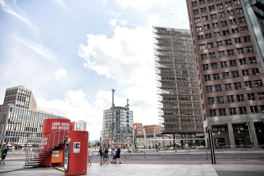 piazza di postdamer a Berlino