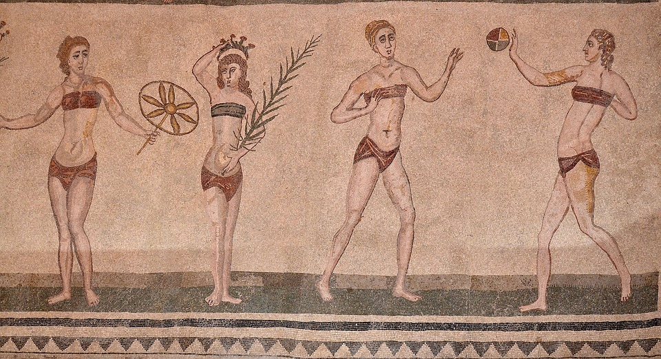 mosaici di Villa Romana del Casale in Sicilia