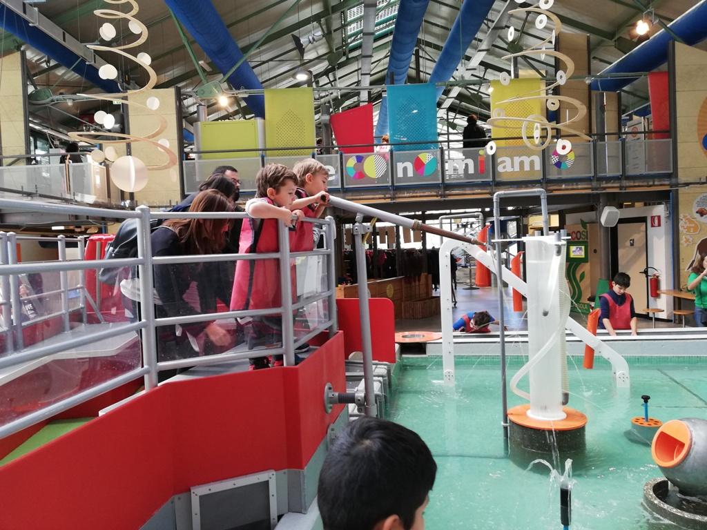 giochi d'acqua al museo dei bambini di Roma