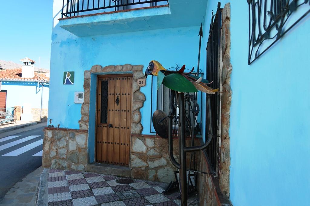 case blu a Juzcar in andalusia