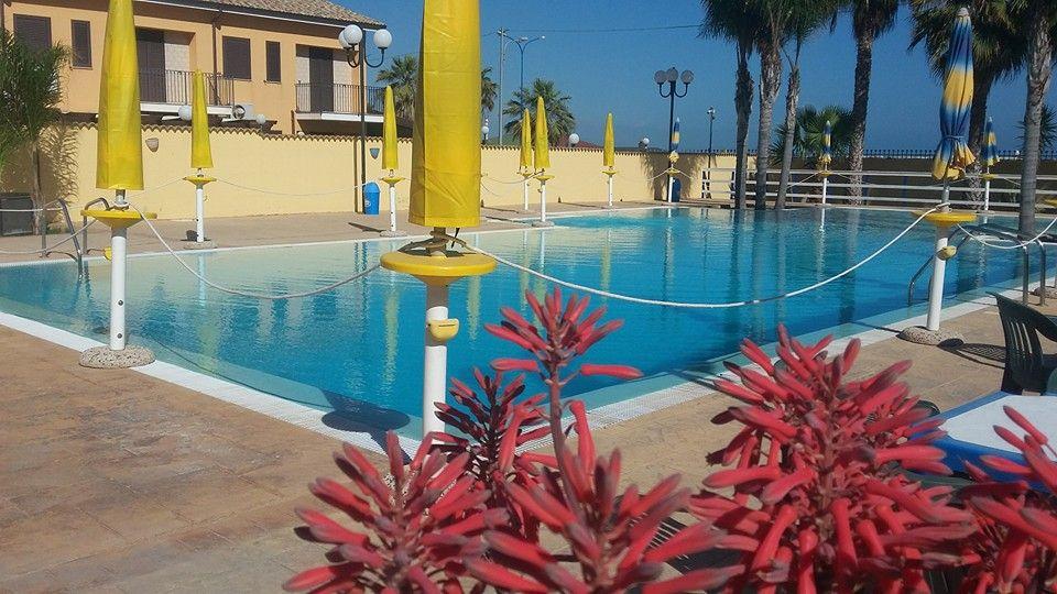piscina della casa vacanze l'ancora agrigento