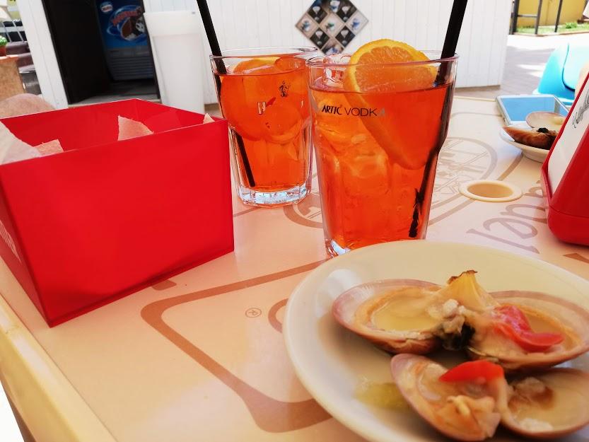 aperitivo con capesante al residence Casa Vacanze l'ancora di Agrigento