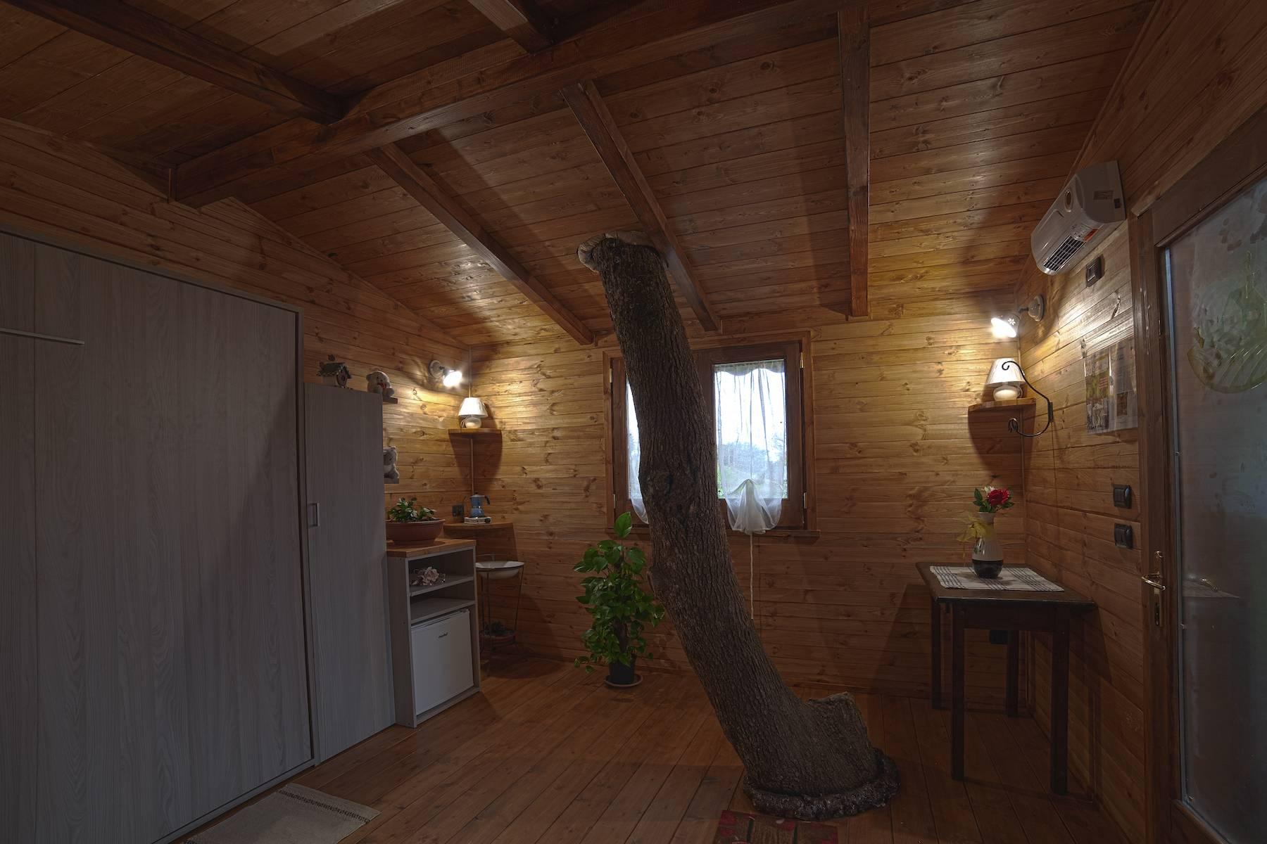 ramo all'interno della casa sull'albero a Rogliano in Calabria