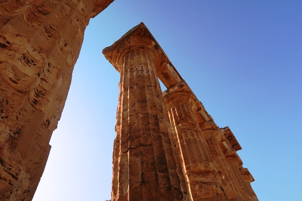 colonne del tempio E di sellinunte