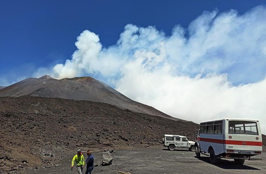 jeep di funivia dell'Etna