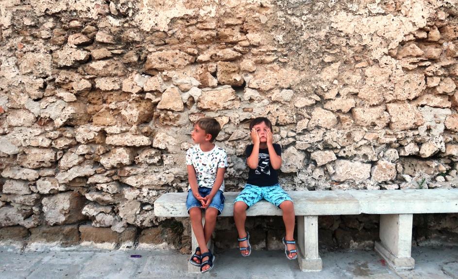 due bambini a Marzamemi