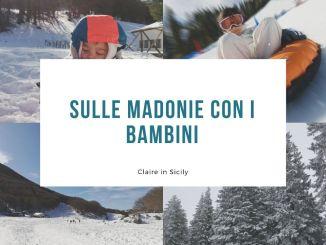 bambini in vacanza sulle Madonie con la neve