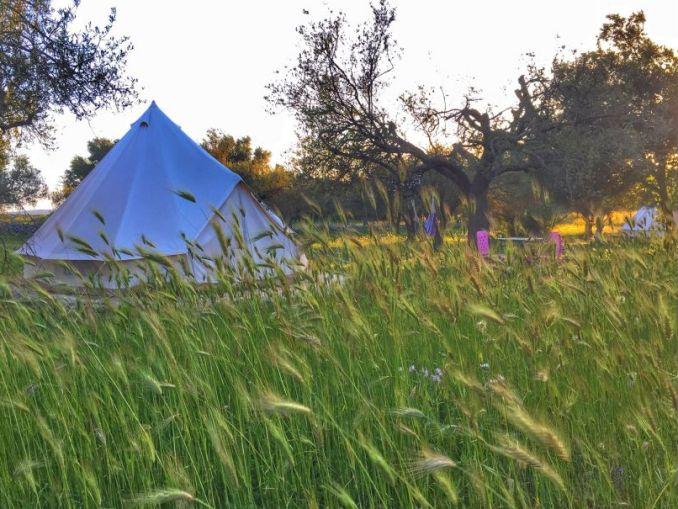 una tenda da glampling in Sicilia