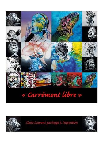 Expo Carrément libre -Claire Laurent 2020