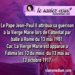 Le saviez-vous ? Le Pape Jean-Paul II et la Vierge Marie