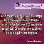 Le saviez-vous ? Pyramides en Egypte et au Soudan