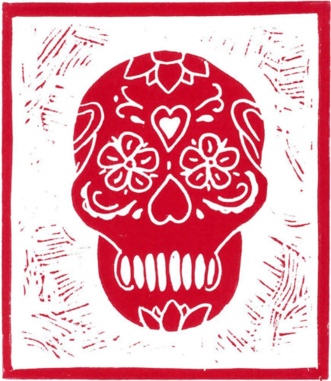 Skull # red