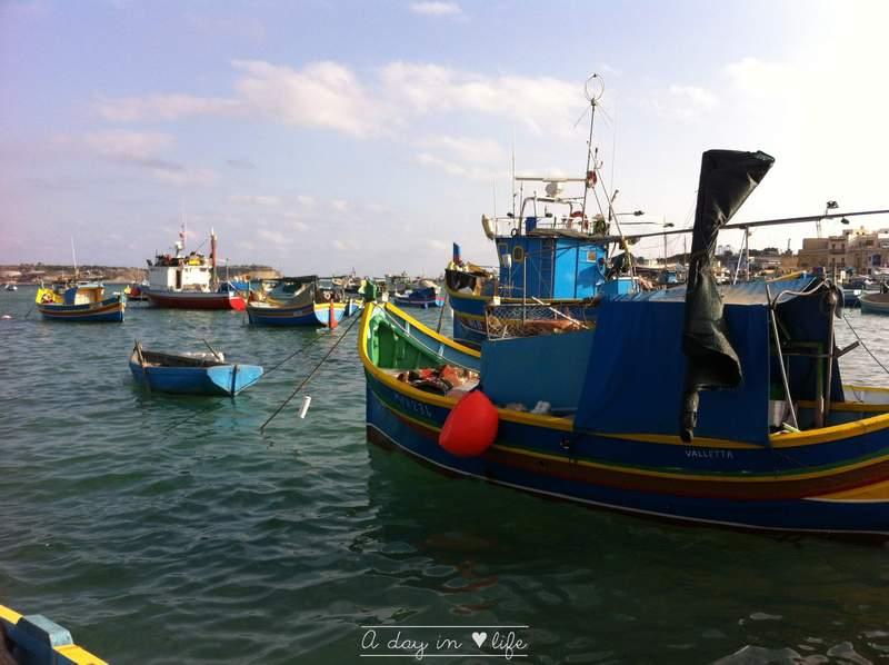 Marsaxlokk port de pêche malte