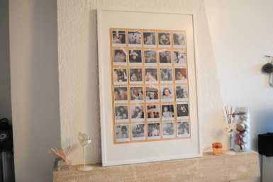 DIY cadre original avec des polaroids