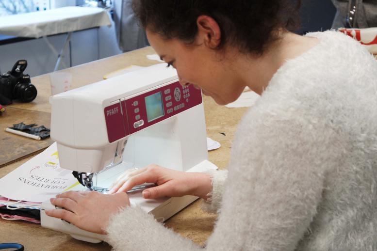Un cours de fashion couture dans la prestigieuse école ESMOD à rennes
