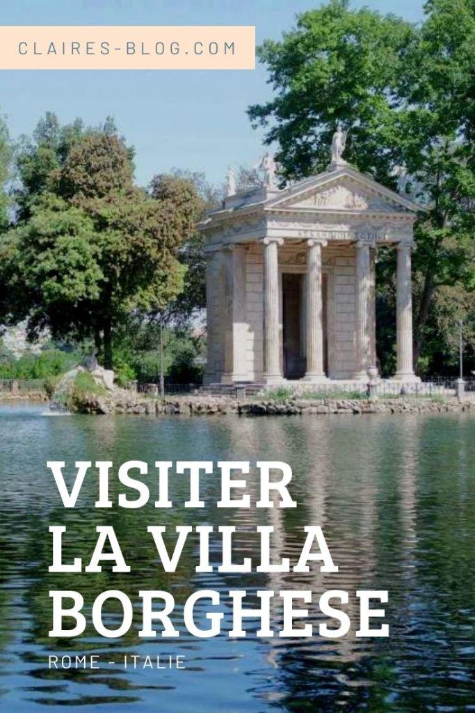 visiter la villa borghese rome italie