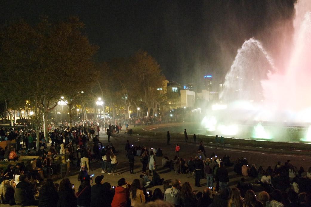Barcelone-Espagne-chateau de montjuic fontaine magique