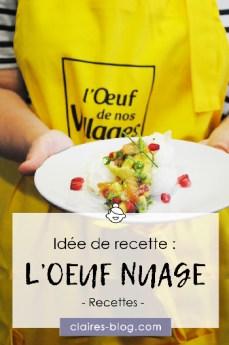 Idée de recette : L'œuf nuage et sa sauce vierge #atelier #recette #cuisine #oeuf #saucevierge #oeufnuage