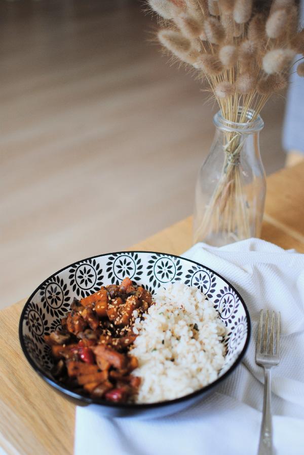 recette de cuisine wok légumes végétarien