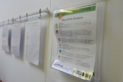 Allergen Declarations on display