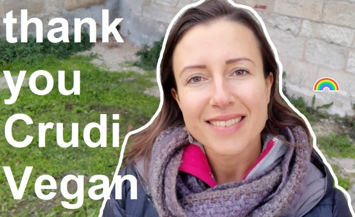 Thank you Anne-Marie from the youtube channel #CrudiVegan #rawvegan and #healthy