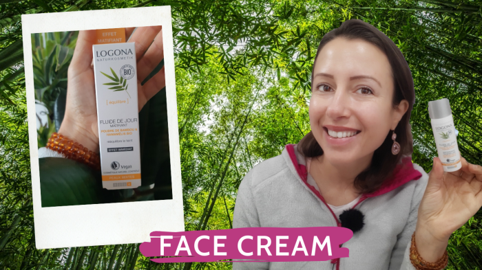 Organic face #cream #review by #Logona with bamboo to balance skin
