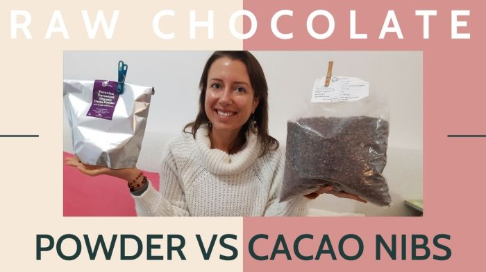 What is the difference between #raw #chocolate powder and cacao nibs? #rawcacao