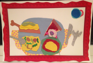 Painting with Scissors- Matisse Cut Out inspired Food Art Collage