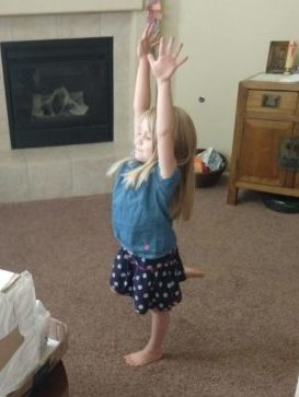 Charlotte dancing to the book choreography