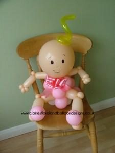 Baby balloon character