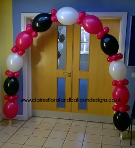 Quick link balloon doorway arch