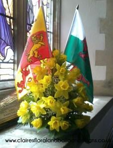 Daffodil funeral tribute