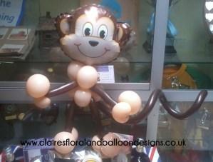 Small monkey balloon character