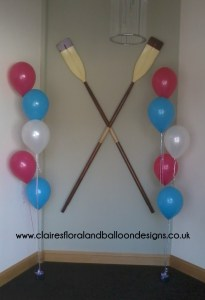 5 balloon floor bouquet for entrance