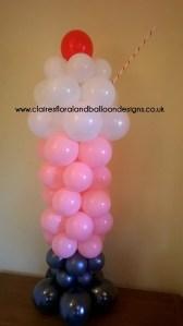 Balloon ice cream sundae