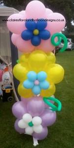 Balloon flower columns