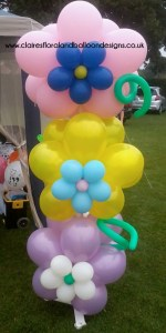 Balloon flower columns
