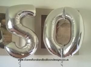 Jumbo foil number balloons