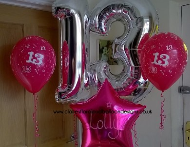 Jumbo Numbers Personalised Foil And Printed Latex Birthday Balloons