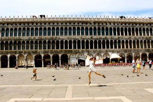 Ballerina Katie in St. Mark's square